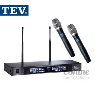 【TEV 台灣電音】數位UHF真分集接收100頻道無線麥克風(TR-7100)