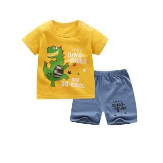 【Baby 童衣】兒童套裝 純棉短袖短褲兩件套家居服 88330(共4色)