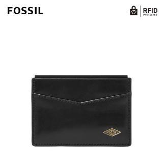 【FOSSIL】Ryan 真皮RFID防盜卡夾-經典黑 ML4234001