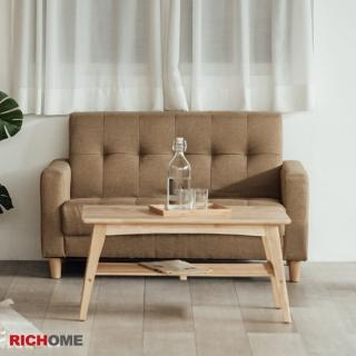 【RICHOME】妮可舒適厚座墊雙人沙發(2色)