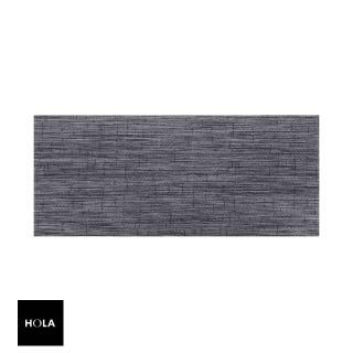 【HOLA】特斯勒時尚編織踏墊50x115cm 灰黑