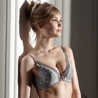 【La Felino 羅絲美】玫苜傳情泡棉款B-D罩杯內衣 - 浪漫灰