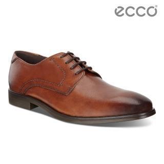 【ecco】MELBOURNE 現代風格商務正裝德比鞋 男鞋(褐色 62163401112)