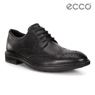 【ecco】VITRUS I 商務精美雕花紳士鞋 男鞋(黑 64031401001)