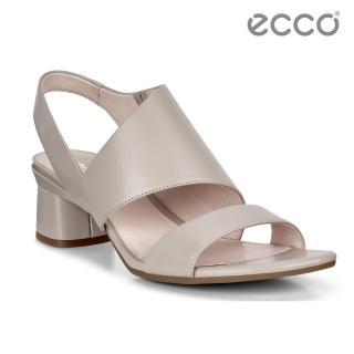 【ecco】ELEVATE 45 BLOCK SANDAL 時尚美背高跟涼鞋 女鞋(灰粉色 29011301386)