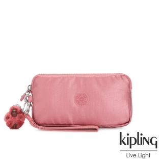 【KIPLING】甜美俏皮粉手拿包-LOWIE/