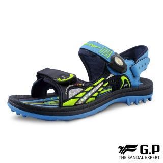 【G.P】女 童鞋 柔軟PLUS兒童兩用涼拖鞋 女鞋(藍)