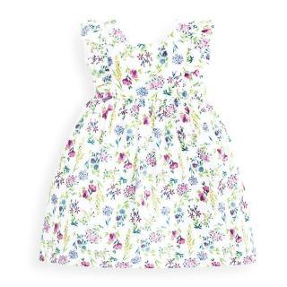 【JoJo Maman BeBe】超優質嬰幼兒/兒童100%純棉無袖洋裝_夏日花卉(JJ-E4052)