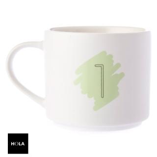 【HOLA】數字馬克杯 1號 380ml 1st First