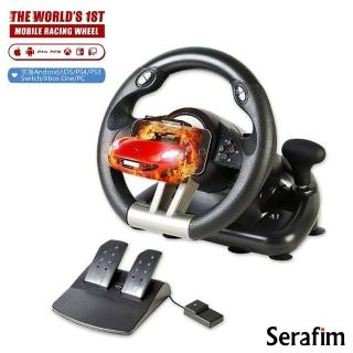 【Serafim】R1+ 賽車方向盤+踏板(支援安卓/iOS/Switch/PS4/Xbox/PC)