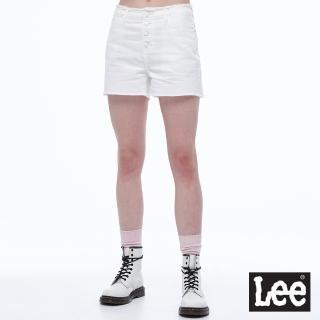 【Lee】抽鬚美型 女牛仔短褲-白