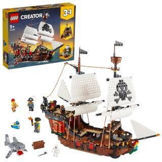 【LEGO 樂高】創意百變系列 3 合 1 海盜船 31109 海盜 模型(31109)