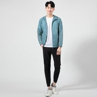 【JYI PIN 極品名店】運動休閒彈性連帽防風外套_湖水藍(KS931-45)
