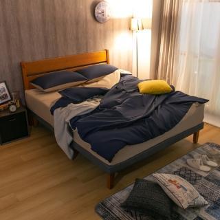 【雙11限定-AS】奧斯卡5尺柚木色床台-152x197x95cm