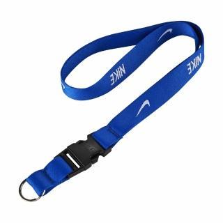 【NIKE 耐吉】識別證吊帶 Lanyard 男女款 上班族 掛繩 基本款 電繡LOGO 藍 白(NIA1741-3NS)