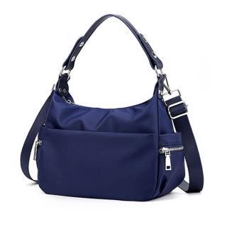 【Acorn 橡果】新款多功能防水包斜背包手提包側肩包水餃包6595(藍色)