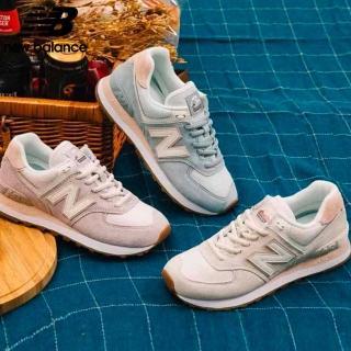 【NEW BALANCE】復古休閒鞋_女鞋_WL574SAY/WL574SUO/WL574SAX_B楦(米白/粉藍/粉紫 3款任選)