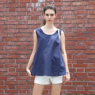 Joy ladies裙擺修身棉麻上衣3+2