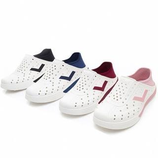 【PONY】ENJOY 水鞋 透氣 洞洞鞋 雨鞋 懶人鞋 涼鞋 四色 反光LOGO 可踩 男女(92U1SA02-)