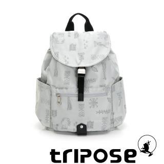 【tripose】ARTFRICA緹花布後背包-大(赤道灰)