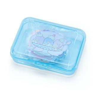 【小禮堂】山姆企鵝 日製造型貼紙組附盒《藍.聖代杯》40枚入.裝飾貼.黏貼用品