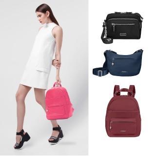 【Samsonite 新秀麗】Move3.0經典時尚女性後背包S(亮灰)