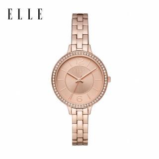 【ELLE】Opera 優雅玫瑰金手錶 34mm ELL25005