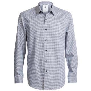 【CR7 CRISTIANO RONALD 西羅】Classic Fit 尖領酷炫黑灰十字印花襯衫(8633-73-510)