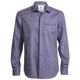 【CR7 CRISTIANO RONALD 西羅】Slim Fit 神秘紫色正小方形印花尖領襯衫(8639-72-314)