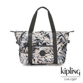 【KIPLING】夏日棕櫚印花手提側背包-ART M