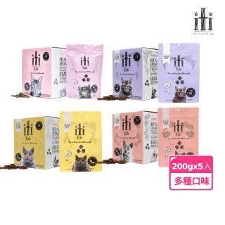 【iti】貓用主食肉乾 雞肉鮭魚 200g*5入(純肉 肉片 主食 零食 鮮食)