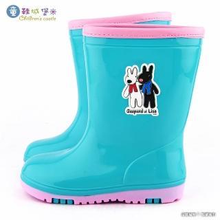 【童鞋城堡】童趣撞色款雨靴 麗莎與卡斯柏(GL7637-綠)