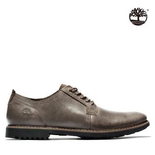【Timberland】男款深棕色全粒面商務系鞋帶皮鞋(A1QE6931)