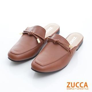 【ZUCCA&bellwink】金屬綁繩環扣紳士拖鞋z6819ce-棕色