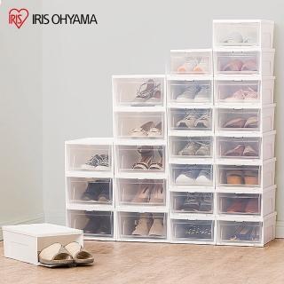 【IRIS】熱銷12入超值組-日式透明鞋盒(高/矮款任選)