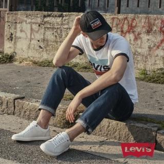 【LEVIS】男款 511 低腰修身窄管牛仔長褲 / 深藍刷白-熱銷單品