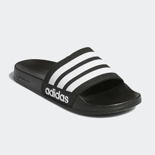 【adidas 愛迪達】男女鞋 休閒 運動拖鞋 ADILETTE SHOWER 黑 AQ1701