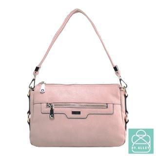 【89.Alley】側背包 手感軟皮革氣質三層款兩用斜背包 女包(5色)