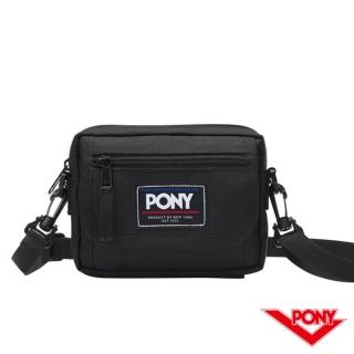 【PONY】運動休閒側背包 肩背包 黑