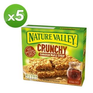 【Nature Valley 天然谷】天然谷 纖穀派 楓糖燕麥(21gx2片x5條x5盒)
