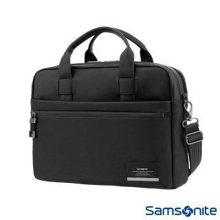 【Samsonite 新秀麗】Vestor商務保護隔層筆電公事包M(黑)