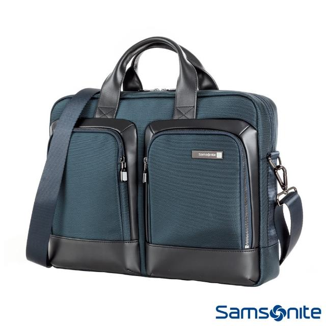 【Samsonite 新秀麗】Sefton商務筆電公事包S(多色可選)