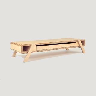 【NOWAK】「台灣職人手作」木製桌架-白樺木夾板原色(螢幕架 桌架 支架 和室桌)