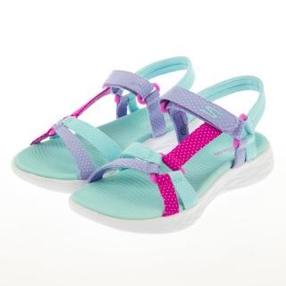 【SKECHERS】女童系列 涼鞋 ON-THE-GO 600(302117LAQUA)