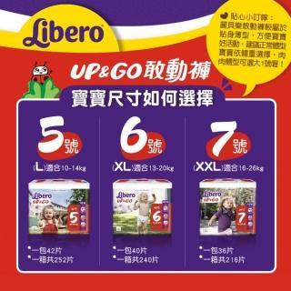 【麗貝樂】敢動褲 6號XL 嬰兒尿布/尿褲 歐洲原裝進口 2020新升級(40片×6包/箱購)
