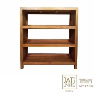 【吉迪市柚木家具】柚木三層置物架(收納櫃 層架 展示架 書架)