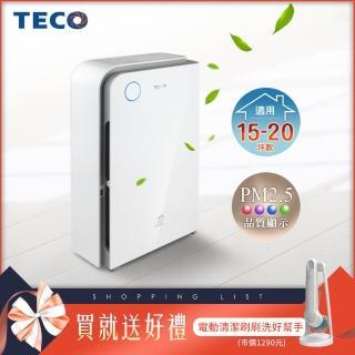 【TECO 東元】高效負離子空氣清淨機 NN4101BD(加贈電動清潔刷 BHPC110)