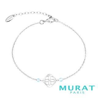 【MURAT Paris 米哈巴黎】藍色玉石菱形圖騰手鍊(303068.6)