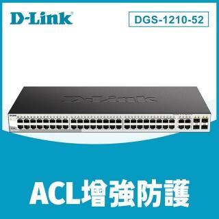 【D-Link】DGS-1210-52 終身保固 48埠 Gigabit + 4埠 SFP 智慧型網頁管理型 超高速乙太網路交換器