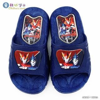 【童鞋城堡】羅布 室內外拖鞋 超人力霸王(UM0272-藍)